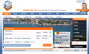 Interface du site internet bdv.fr
