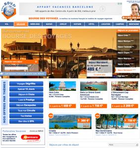interface du site Bourse des voyaes