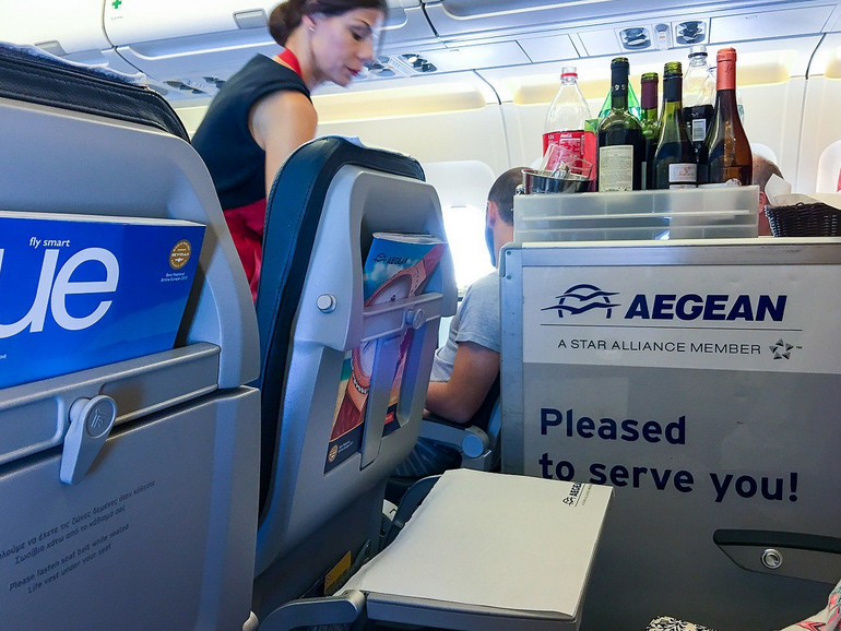 service avion aegean airlines