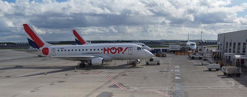 avion hop en gare