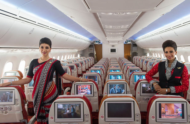 intérieur avion air india