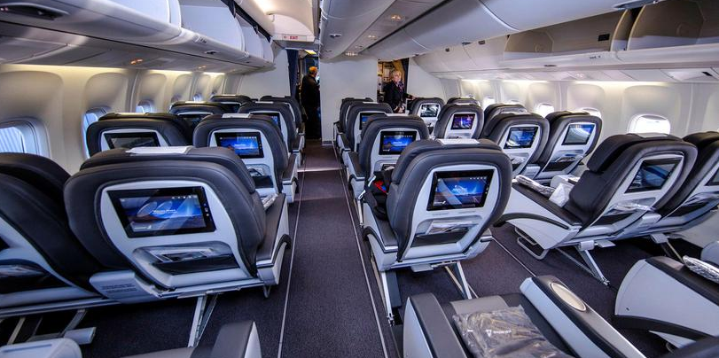 cabine avion icelandair