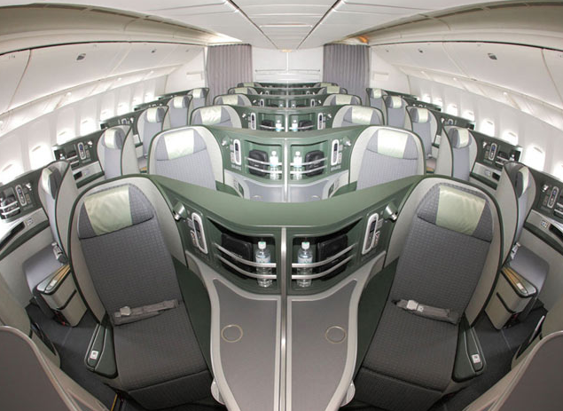 intérieur cabine eva air